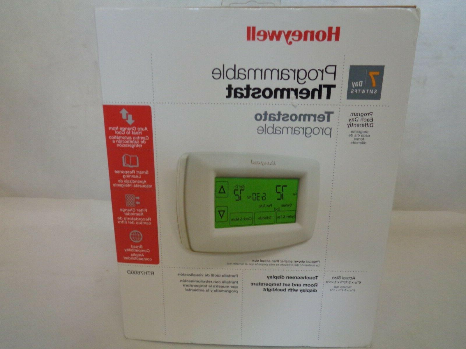new rth7600d 7 day programmable thermostat