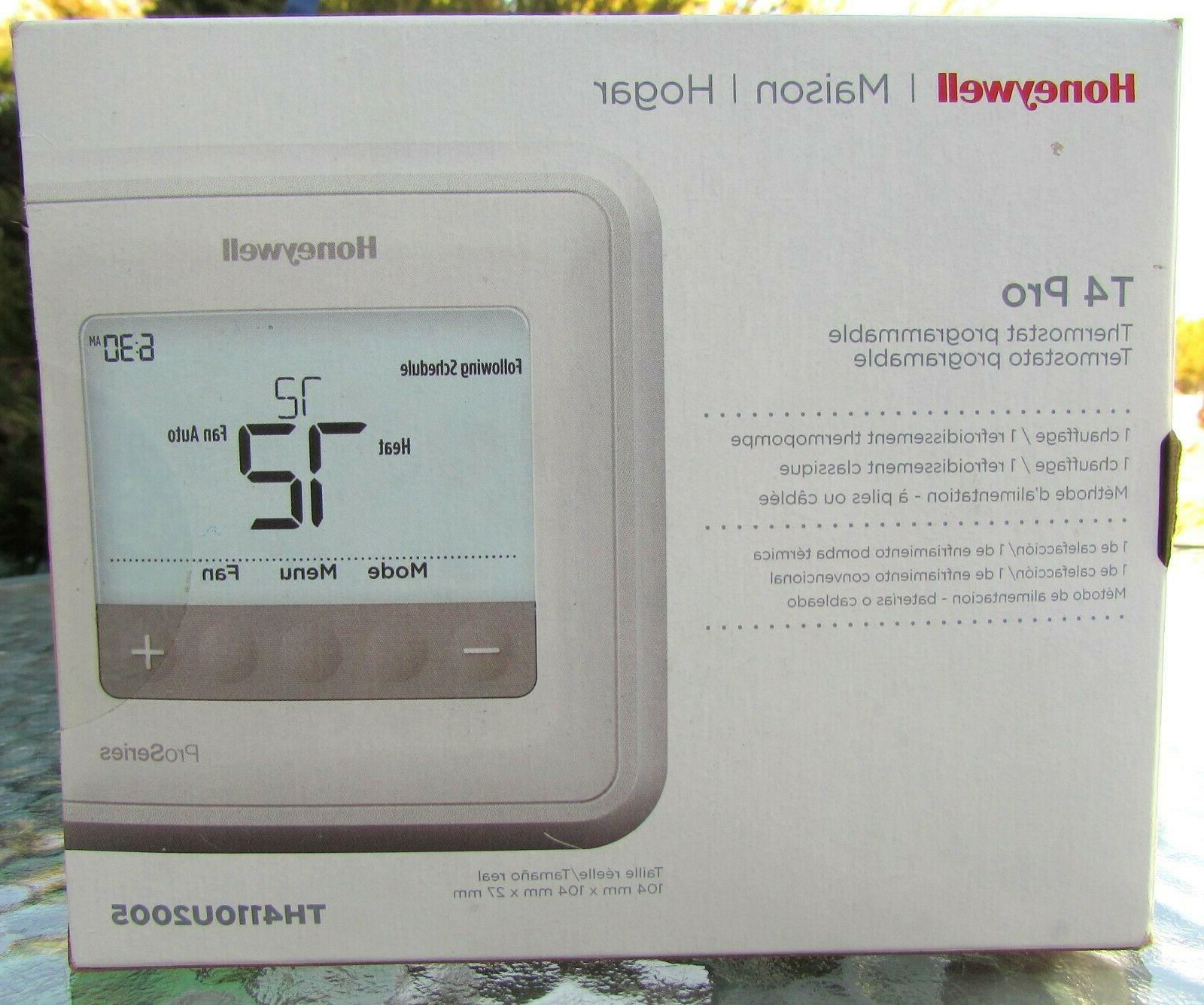 NEW SEALED Honeywell TH4110U2005 T4 Pro Programmable Thermostat, White