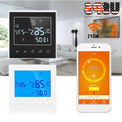 programmable wifi wireless thermostat lcd touch screen