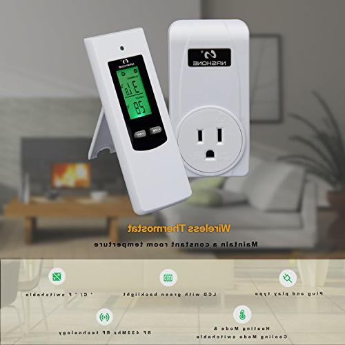 Nashone Thermostat with Remote Display Mode