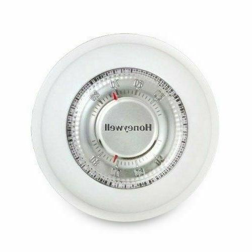 round manual thermostat off white