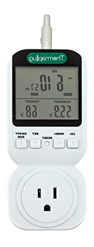 Seven Day Programmable Outlet Thermostat/Timer Plug for Heat
