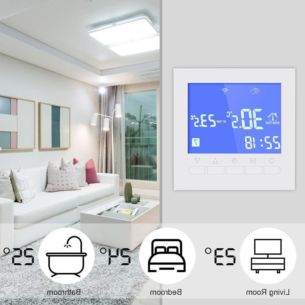 Smart Touch Screen Wifi Heating Thermostat Room Wireless Tem