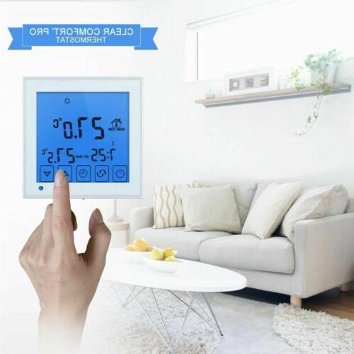 Thermostat LCD Programmable Electric Floor Water Heating Control