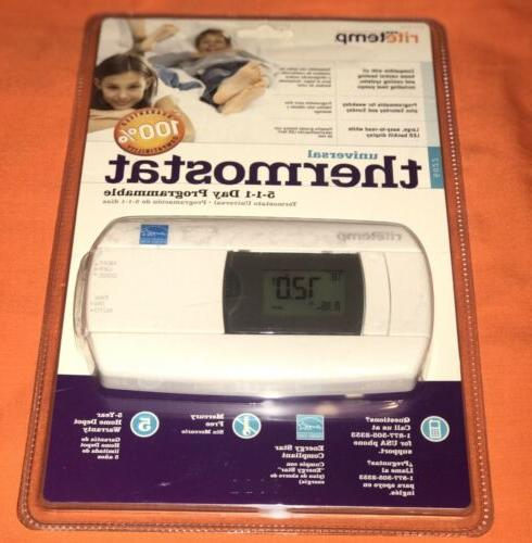 universal thermostat 5 1 1 day programmable