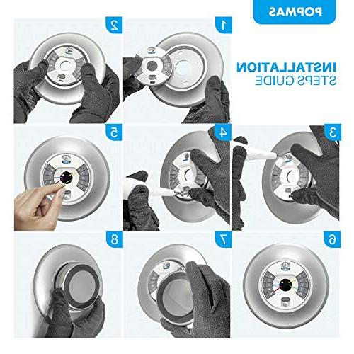 POPMAS Plate for Nest Learning Thermostat 2nd Nest Thermostat Stereoscopic Round Cover Fingerprint