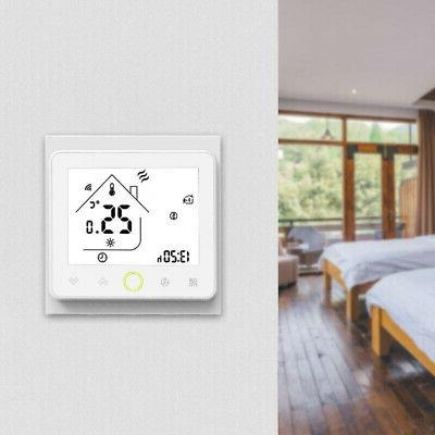 US LCD Smart Programmable Thermostat Heating App