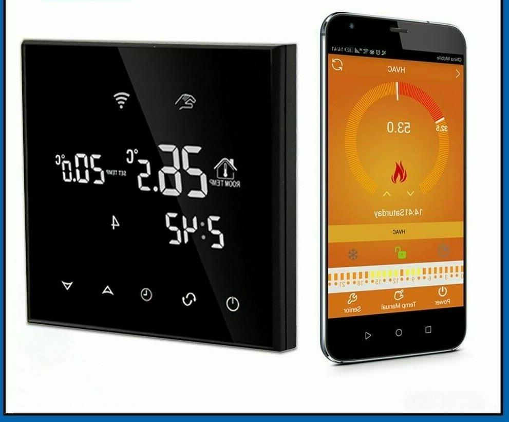 wifi smart thermostat electric floor heating temperature