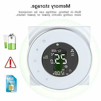 Wifi LCD Screen Thermostat Support App Control Tempe