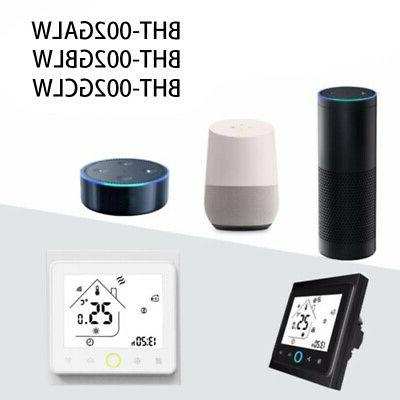 WiFi Thermostat Black/White 7 day Programmable Digital App C
