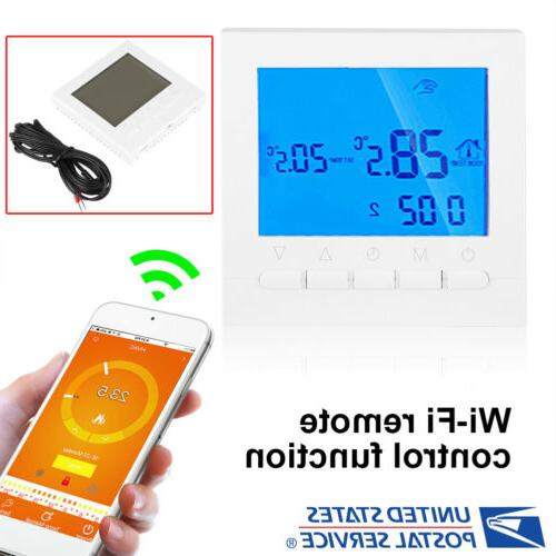Wifi Wireless Digital LCD Display Thermostat Room Heating Te