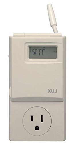 LUX PRODUCTS WIN100 5-2 Programmable Outlet Thermostat-5/2 PROG OUT THERMOSTAT