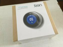 Nest Learning Thermostat 2nd Generation - Stainless Steel. B