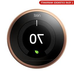 Nest Learning Thermostat 3rd Gen  + 1 Year Extended Warranty