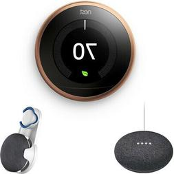 learning thermostat 3rd gen copper with charcoal