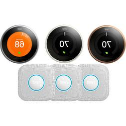 Nest Learning Thermostat 3rd Gen w/ 3 Pack Nest Protect Smok