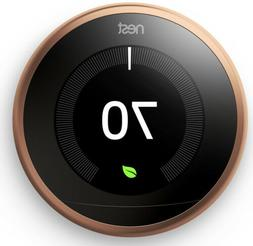 Nest Learning Thermostat 3rd Generation, Copper, Works with