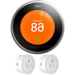Google Nest Learning Thermostat 3rd Generation  w/ 2 Pack Wi