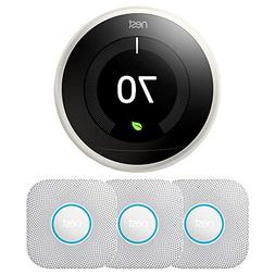 Nest Learning Thermostat, 3rd Generation  T3017US w/ 3-Pack