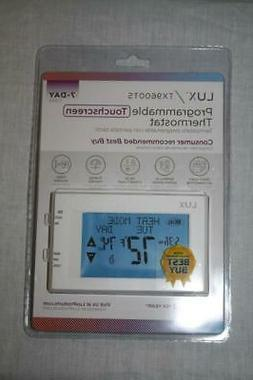 Lux TX9600TS 7-day Touch Screen Programmable Thermostat - Wh