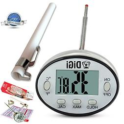 Digital Meat Thermometer with Instant Read - Thin Stainless