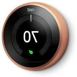 Nest Learning Programmable Thermostat 3rd Generation WiFi Bl