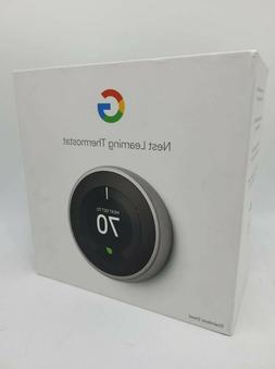 Google Nest Learning Thermostat 3rd Gen in Stainless Steel T