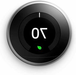 Nest Learning Thermostat 3rd Gen in Stainless Steel | T3007E