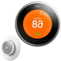 Google Nest Learning Thermostat  +Thermostat Wall Plate Cove