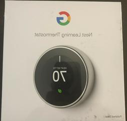 Nest T3019US Programmable Thermostat, Polished Steel, Never