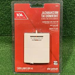 NEW - ACE Mechanical Thermostat 42350 Heating Only 24 Volt