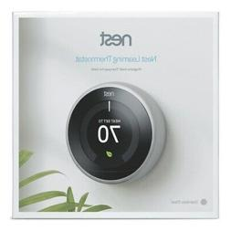 Sealed! Google Nest 3rd Gen Learning Thermostat T3007ES Stai