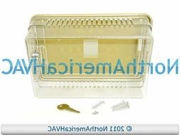 NEW Thermostat Guard Clear Plastic Case with Base Lock & Key