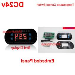 Panel Embeded DC24v Thermostat Digital Temperature Meter Rel