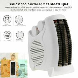 portable silent electric fan heater thermostat flat