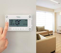 Programmable Home Thermostat Large Easy to Read Digital Disp