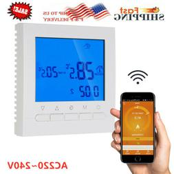 Programmable Wifi Wireless Thermostat LCD Wireless Smart Dig