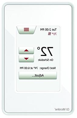 Radiant Floor Touch Screen Programmable Thermostat with GFCI
