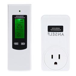Anself RF Wireless Thermostat Remote Temp Controller For Hea