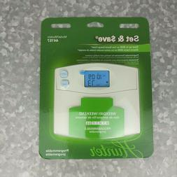 Hunter Set & Save Programmable Thermostat Heat/cool Weekday/