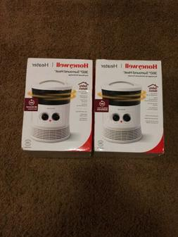 Set Of 2 Honeywell 360 Degree Surround Heater, HHF360W, Whit