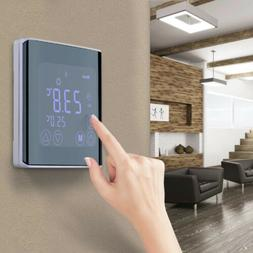 Smart Home LCD Display Touch Screen Thermostat White Backlig