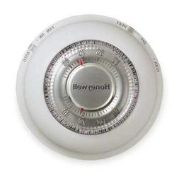 HONEYWELL T87N1000 Manual Thermostat, 1 Stages, 20 to 30VAC,