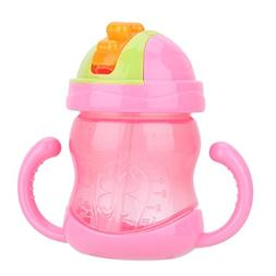 Baby Children Training Cup Baby Feeding Straw Cup Anti-Wrest