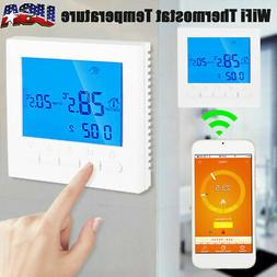 Wall Mount Programmable WiFi Wireless LCD Digital Heating Th