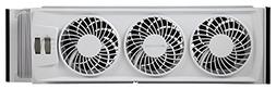 Bionaire Whole-House Triple Window Fan with Adjustable Therm