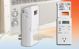 Lux WIN100 Heating  Cooling Programmable Outlet Thermostat,